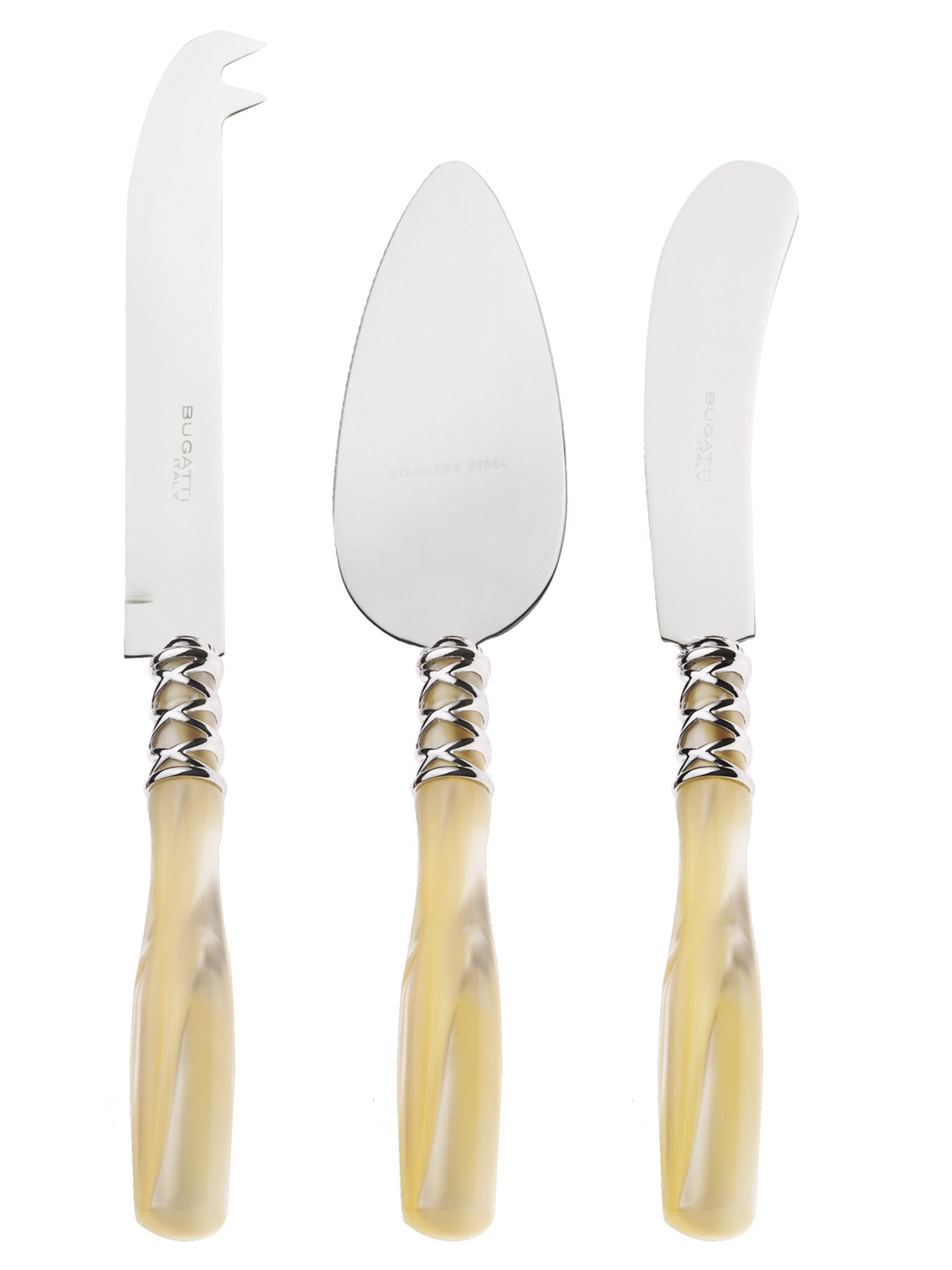 Arianna 3 Piece Cheese Knives Set ivory