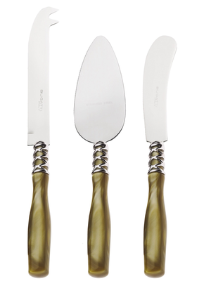 Arianna 3 Piece Cheese Knives Set Chartreuse