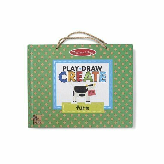 Draw, Create Reusable Drawing & Magnet Kit - Farm