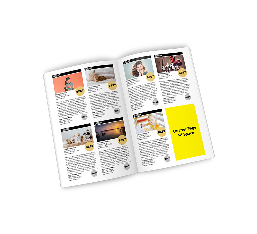 Best of the Lakes Region Winner's Magazine | Quarter Page
