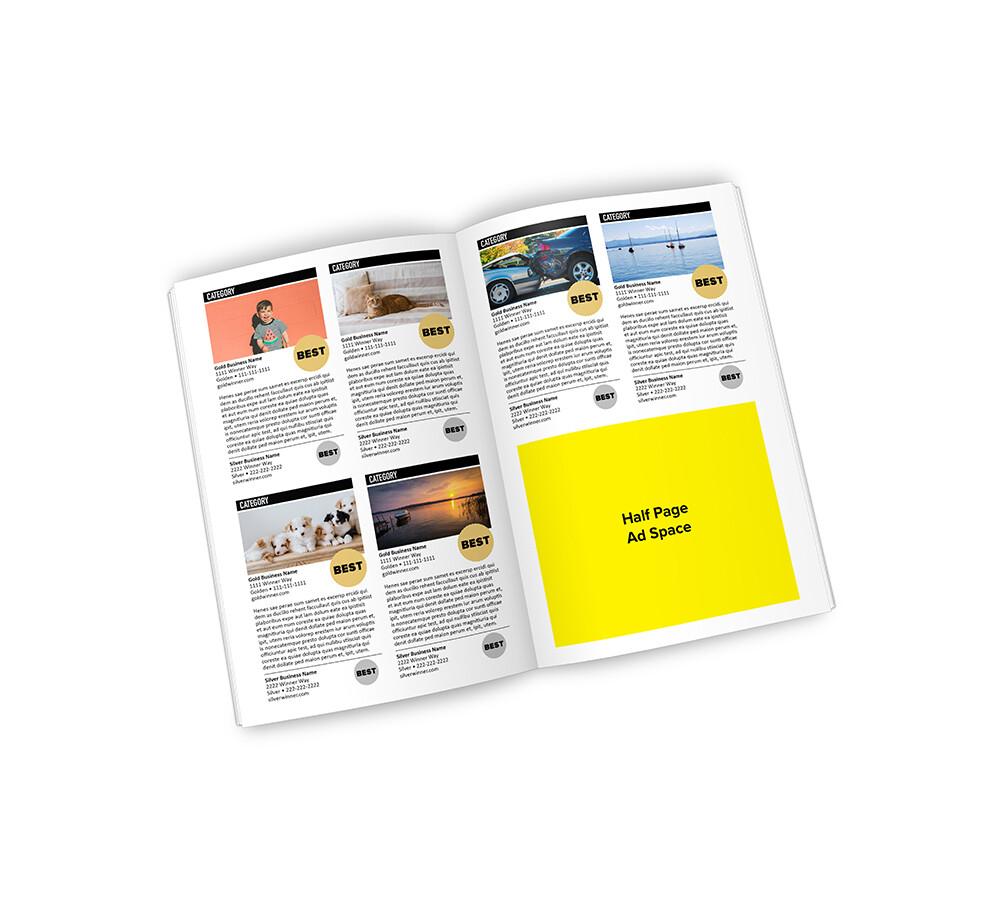 Best of Lakes Region Winner's Magazine | Half Page