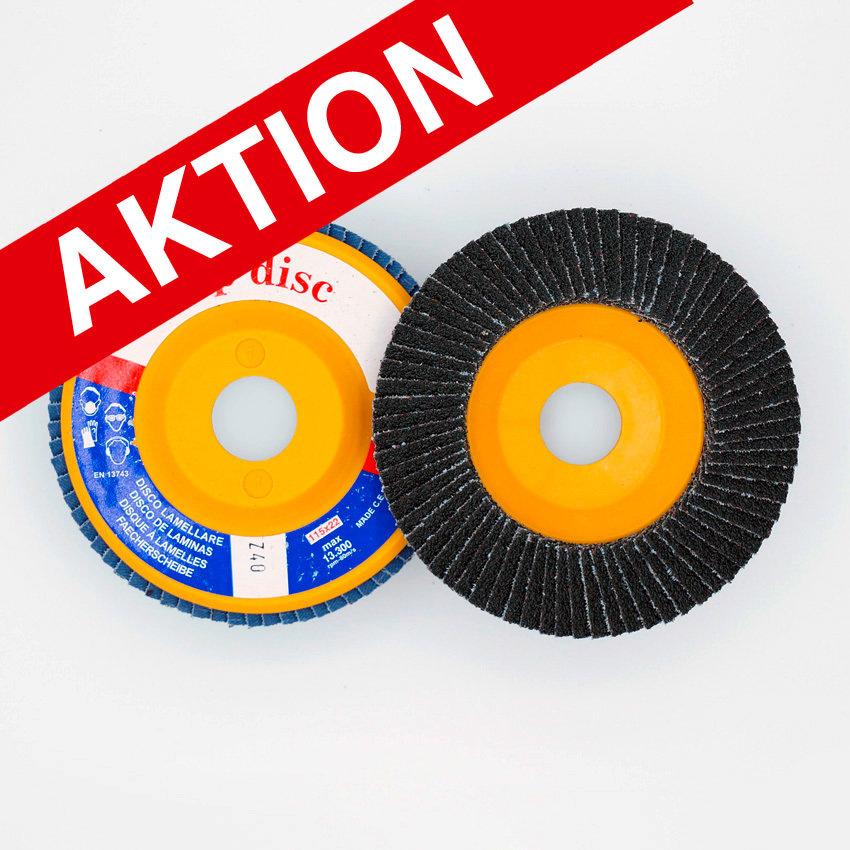 ø 115 x 22 mm  gerade/ plate, Flap-Disc Nylon-Back, Korn/Grains Z40