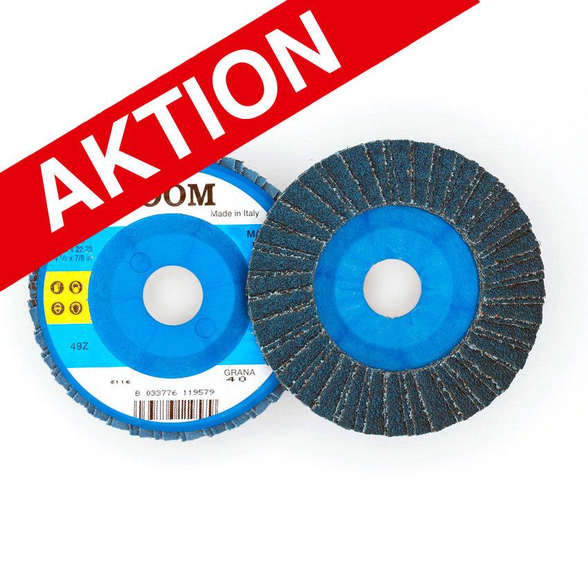 ø 115 x 22 mm, gerade/plate, Flap-Disc Nylon Back, ZOOM, Korn/Grains Z40