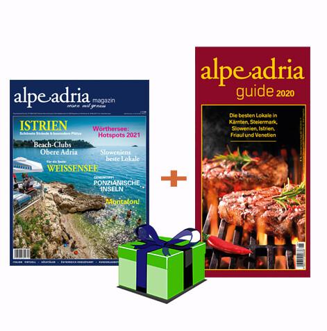 Alpe Adria Magazin (Dtl.) & Alpe Adria Guide Geschenks-Jahresabo Print
