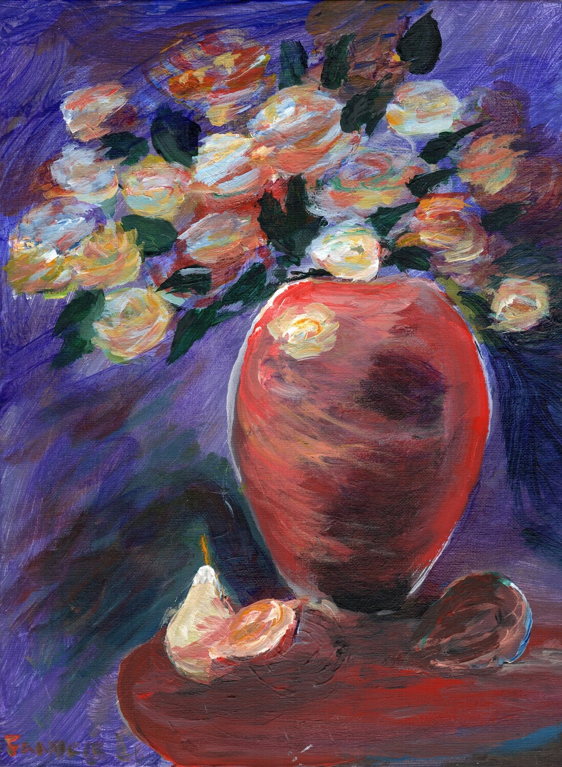 Print 11x17 - Still Life with Red Vase by Francis Li