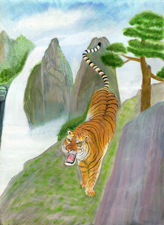 Print 11x17- Master Tiger by Kekun Ouyang