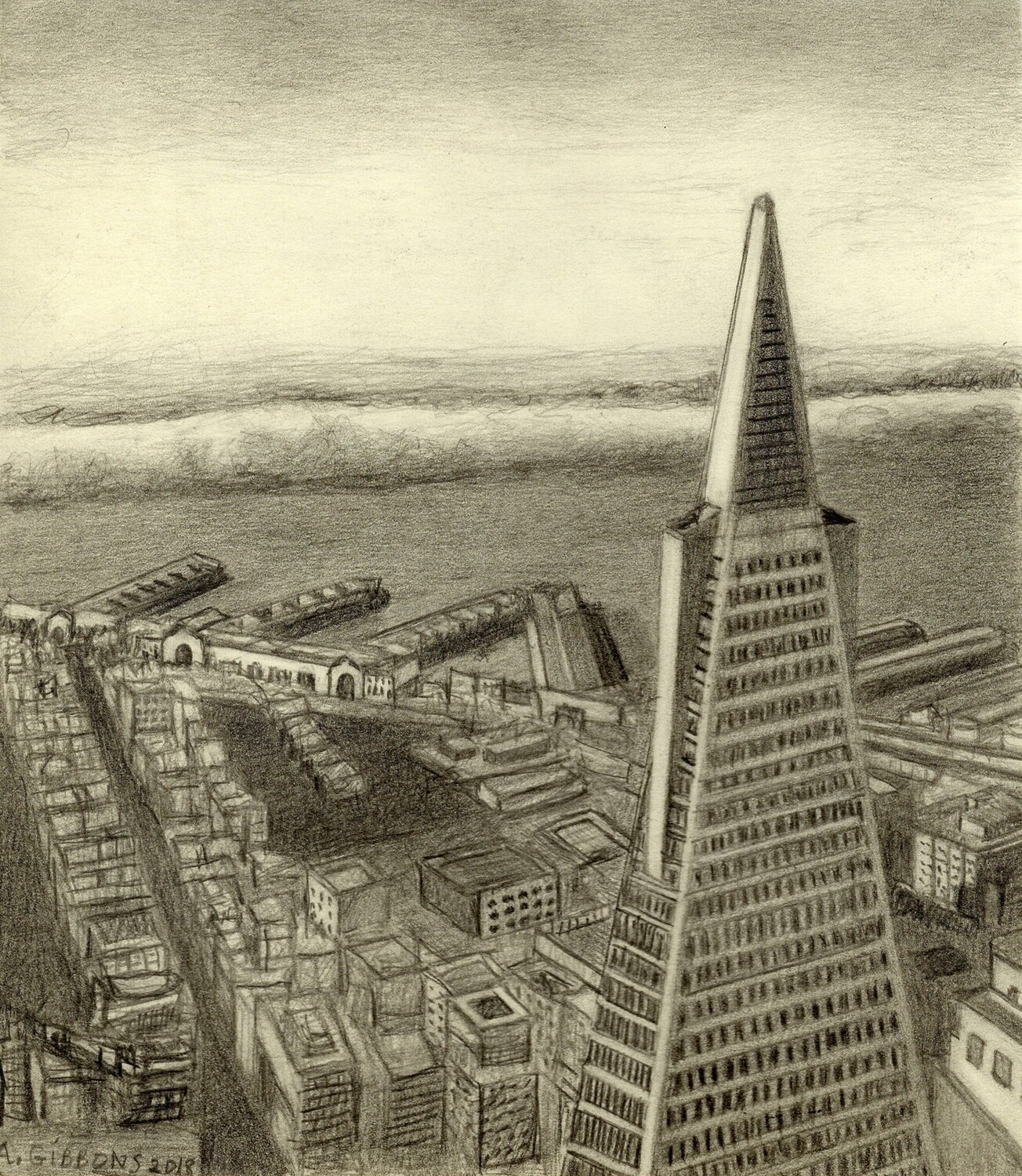Print 11x17 NE from Pyramid by Alice Gibbons