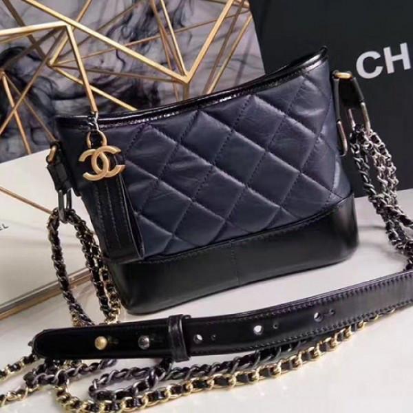 PRE ORDER - Chanel Gabrielle Hobo Bag - Navy/Black  Aged Calfskin  Small
