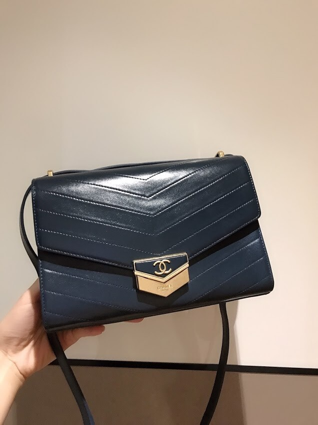 IN STOCK - 1:1 Chanel Chevron Medal Flap A57491 Bag