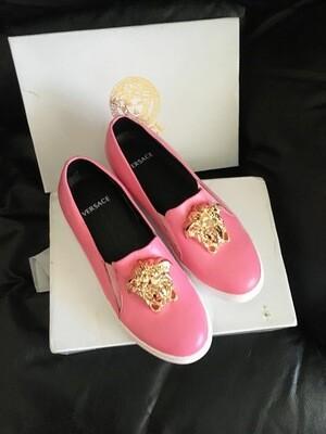 IN STOCK - Versace Medusa Slip On Sneaker Loafer Size 40/ 8.5 US