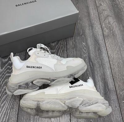 PRE ORDER - 1:1 Balenciaga Triple S Grey Sneaker Women Runner Size 7.5- 8 / 39EU