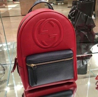 IN STOCK NOW - 1:1 Gucci Soho Leather Chain Backpack Red