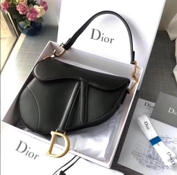 IN STOCK- 1:1  Christian Dior Saddle Bag - Mini Black