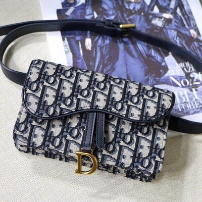 IN STOCK - 1:1 Dior SADDLE BELT POUCH- Navy