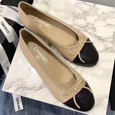 IN STOCK 1:1 Chanel Ballerina Flats - Nude Size 7 / 38EU