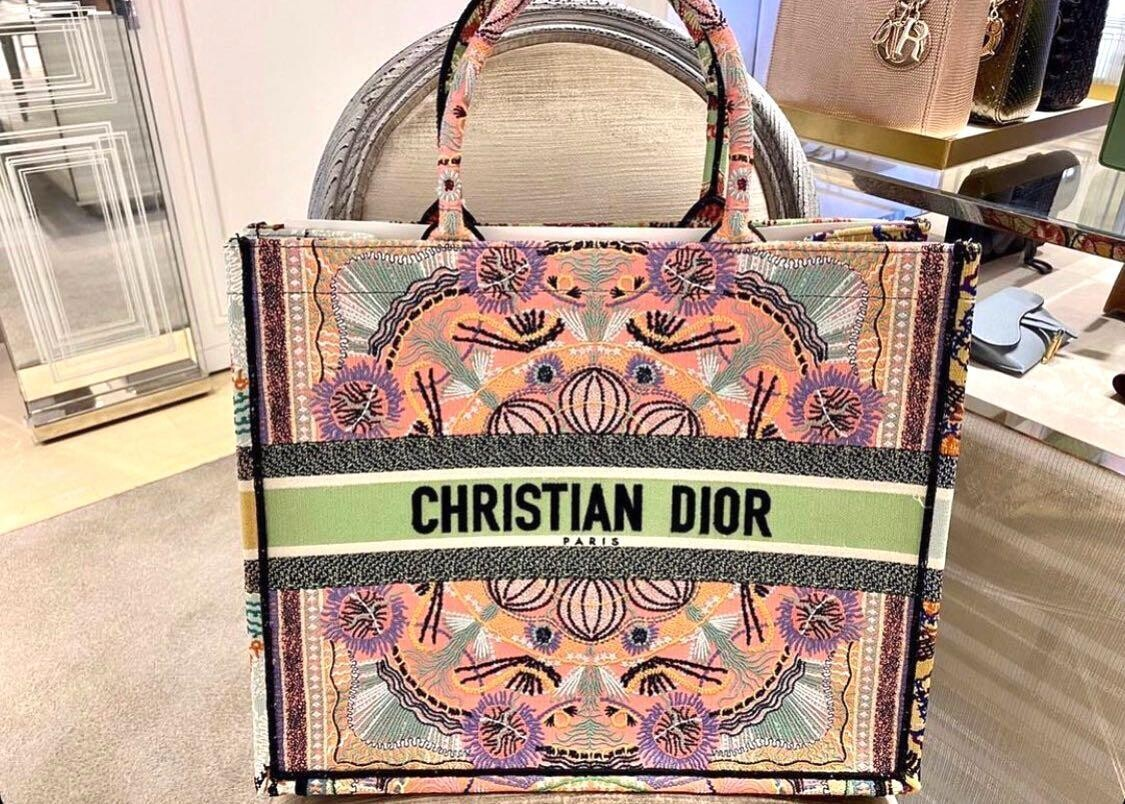 IN STOCK- 1:1 Christian Dior Book Tote - Light Embroidery Large size