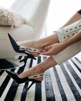 PRE ORDER - 1:1 Christian Dior J'adior Ribbon Slingback Heel Size 7 US / 38 EU - Fabric