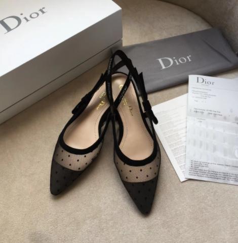 IN STOCK - Christian Dior Mesh J'Adior Slingback Flats SIZE 7.5- 8US / 38EU