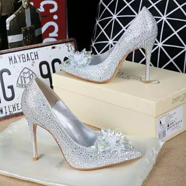 Jimmy Choo AVRIL Crystal Covered Pointy Toe Pumps Size 7 Women