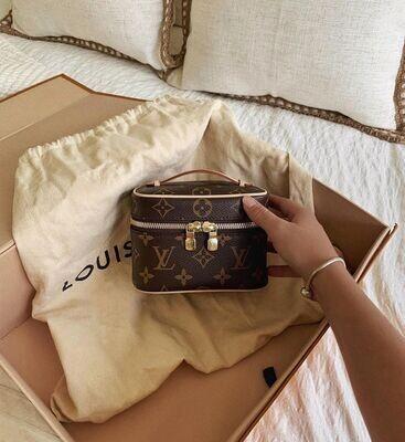 IN STOCK NOW 1:1 Louis Vuitton Nice Nano Monogam (mini bag)