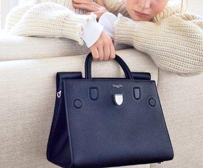 "IN STOCK - 1:1 Christian Dior Calfskin "" Diorever "" Tote Medium Bag (Navy )"