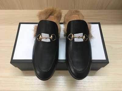 PRE ORDER - Gucci Princetown leather slipper / Slide Black leather 7.5 Women / 38EU
