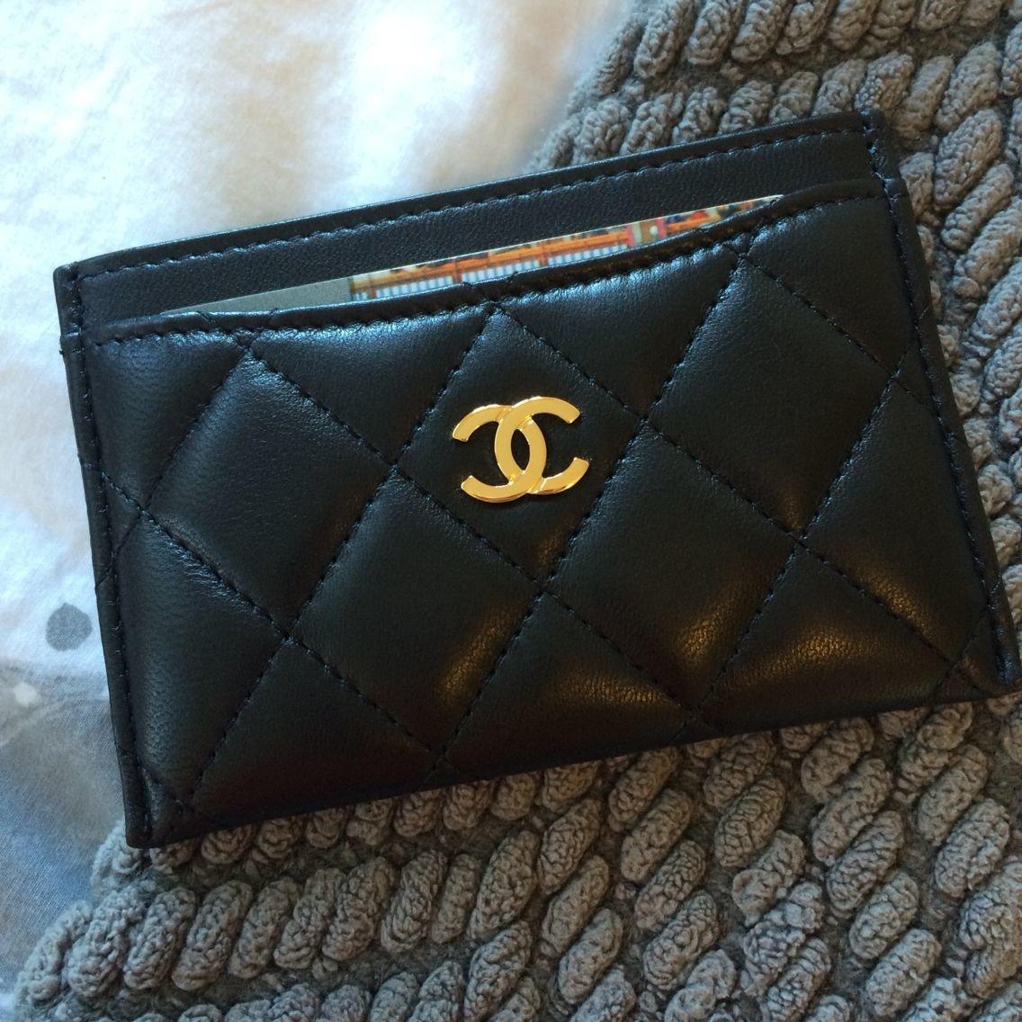 PRE ORDER Chanel Card Case Holder - caviar gold hardware
