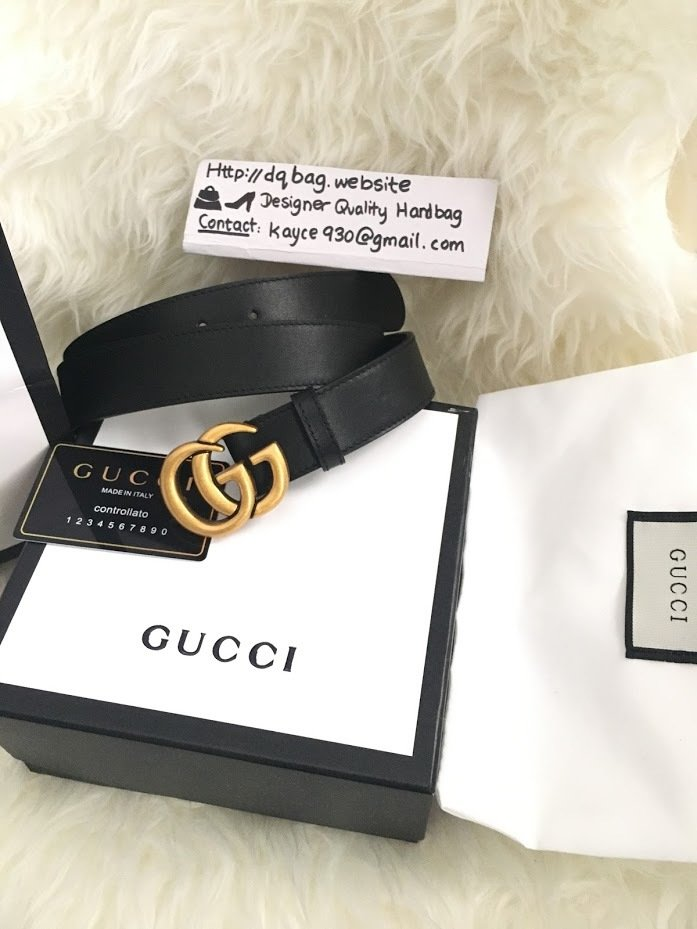 PRE ORDER: 1:1 Gucci Double G buckle Leather Belt - 1.25 inch