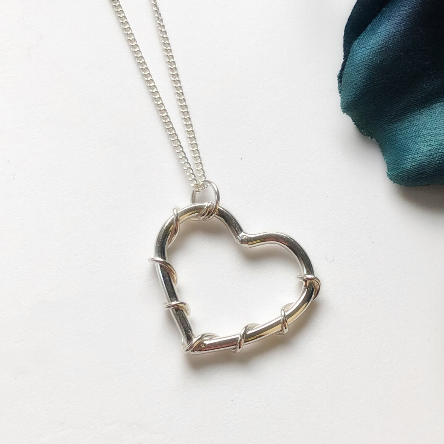 Entwined Love Heart Pendant