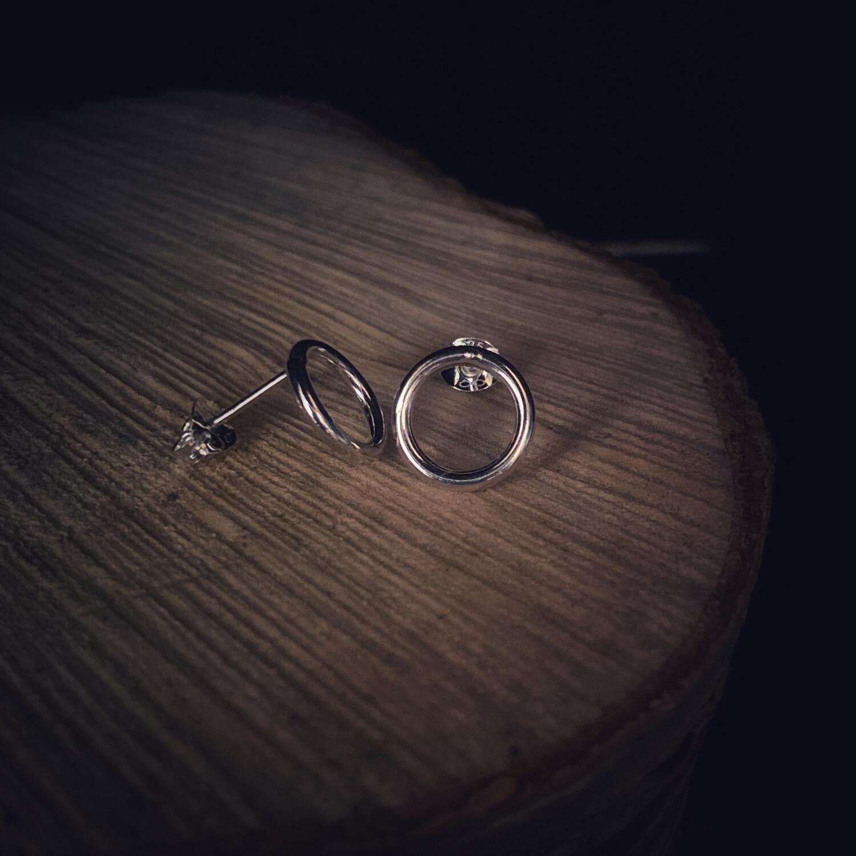 Small Circle Of Life Stud Earrings