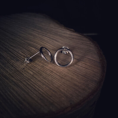 Small Circle Of Life Stud Earrings