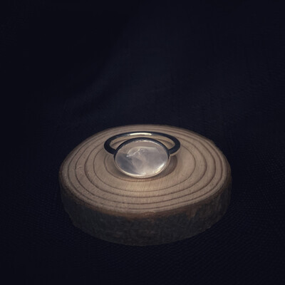 Oval Rose Quartz Ring