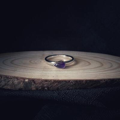 Amethyst Pear Ring