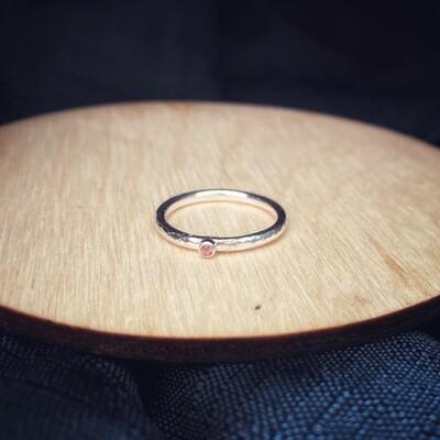 Pink Tourmaline Halo Band Ring