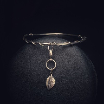 Entwined Love Bangle With Removable Charm