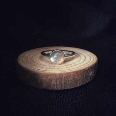 Labradorite Halo Stacking Ring