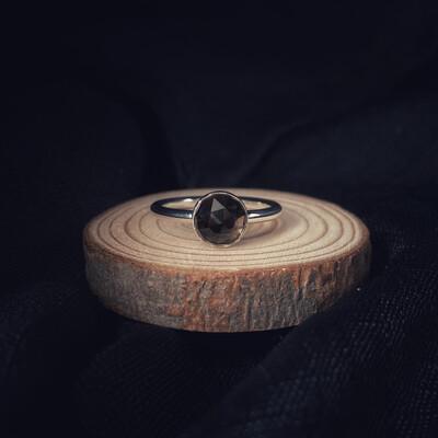 Smokey Quartz Halo Stacking Ring