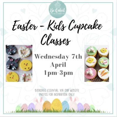 Easter - Kids Cupcake Classes (PM Class) 1pm-3pm