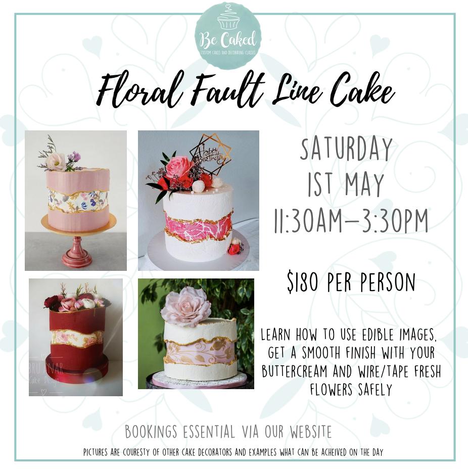 Adult Class - Floral Fault Line Buttercream Cake