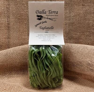 Spinach Garlic Tagliatelle