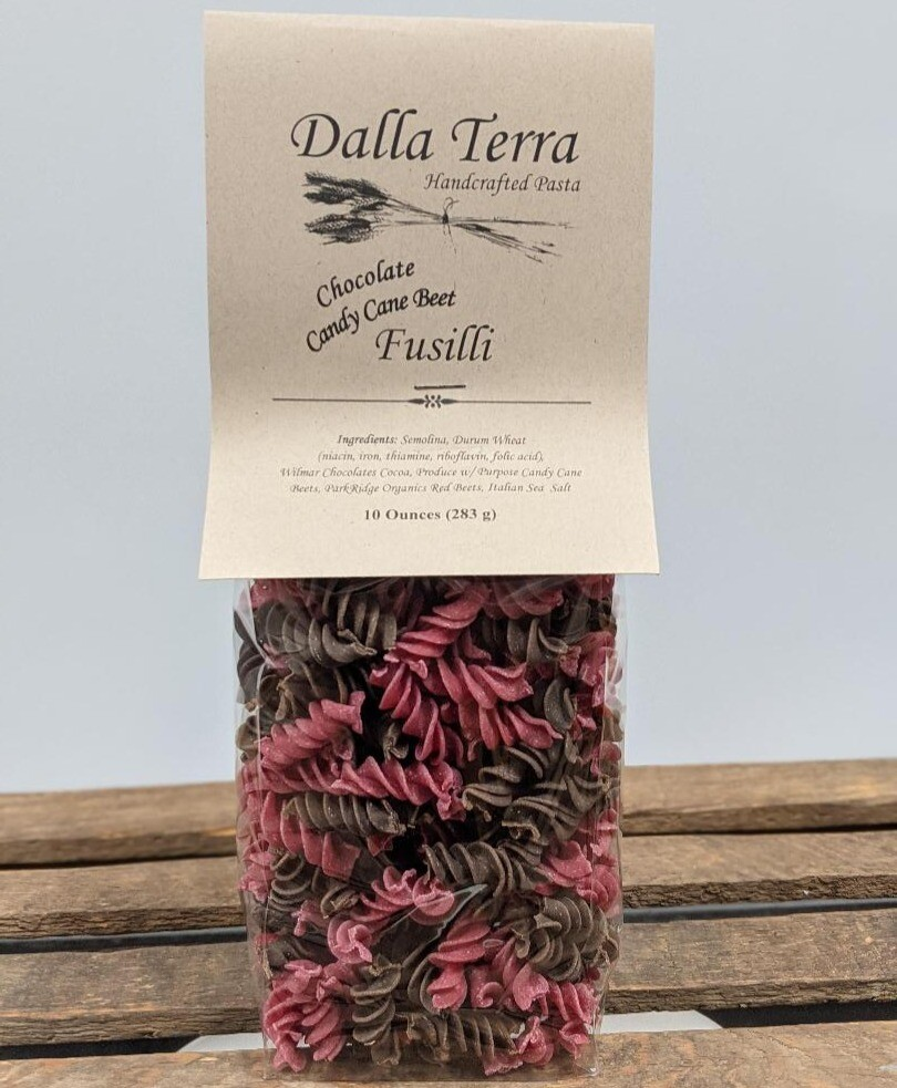 Chocolate Candy Cane Beet Fusilli