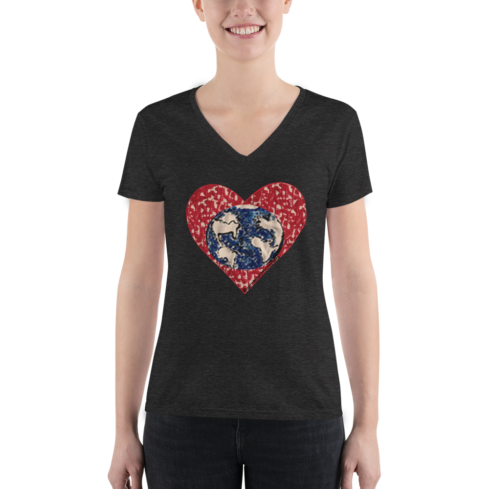 Love Our Earth Short Sleeve V-Neck T-Shirt