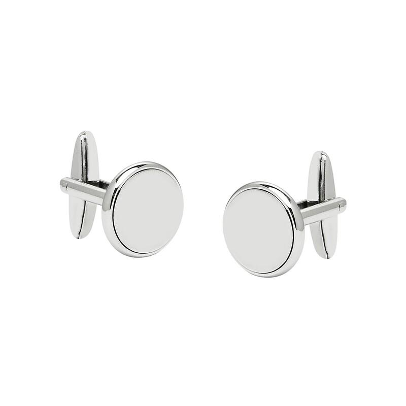 Silver plain, round