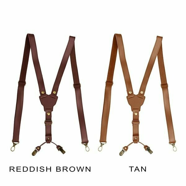 Braces - Redish brown Leather