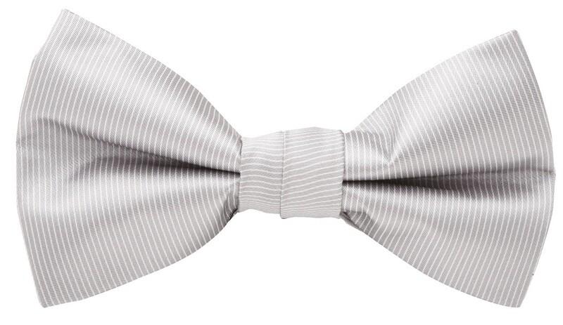 Bow Tie, Pinstripe, Grey