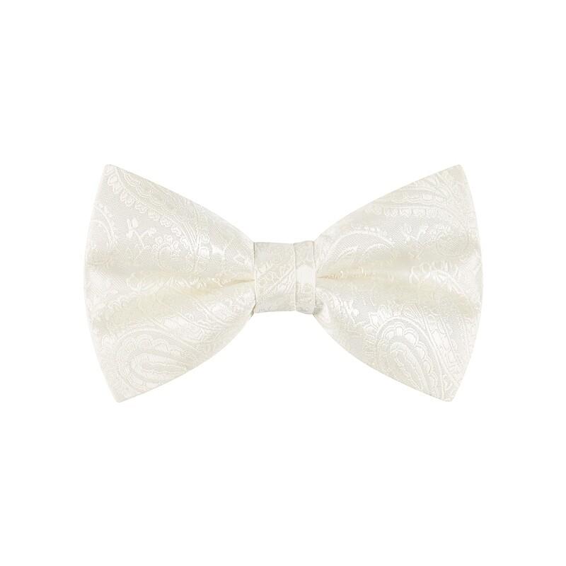 Bow Tie, Paisley, Ivory