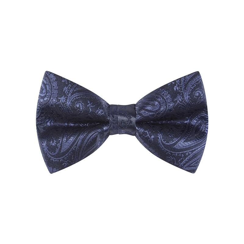 Bow Tie, Paisley, Navy