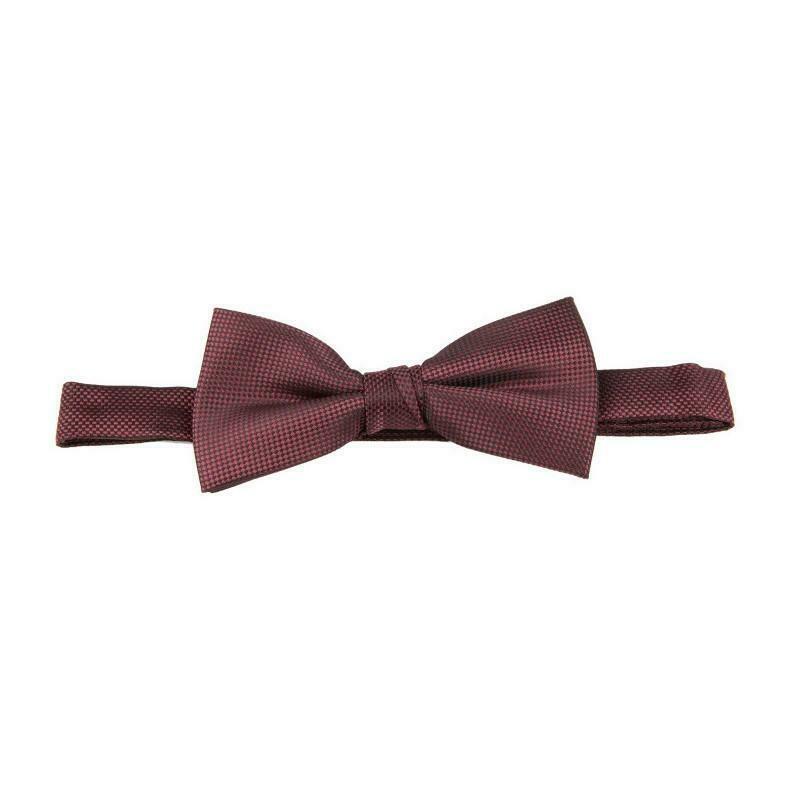 Burgundy self pattern bow