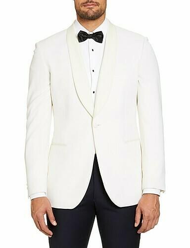 SI-Ivory Tuxedo Jacket