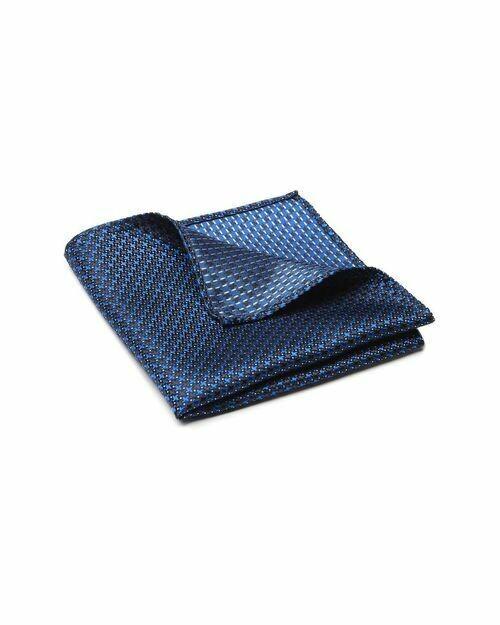 Pocket Square, Cross, Blue
